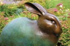 "Snow Hare © Georgia Gerber 32""H x 37""W x 23""D"