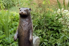 """Georgia Gerber Standing Otter Bronze / 2018 Edition of 15, 30""""H x 22""""W x 9""""D$4,200"""
