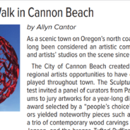 Outdoor Art Walk in Cannon Beach
